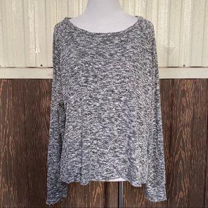 American Eagle Plush gray knit top size L